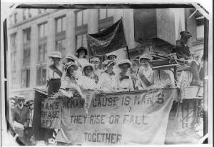 Suffragette Float, New York 1913 Courtesy Wikipedia