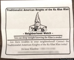 Fairview Township, PA Local KKK, Neighborhood Watch
