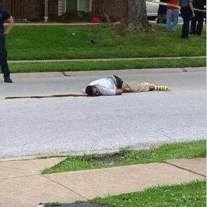 Mike Brown lay on the street for more than 4 hours.