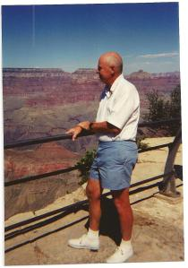 My father overlooking the Grand Canyon 1993
