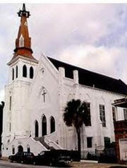 The Emanuel African Methodist Episcopal Church sits at 110 Calhoun St. in Charleston, S.C.
