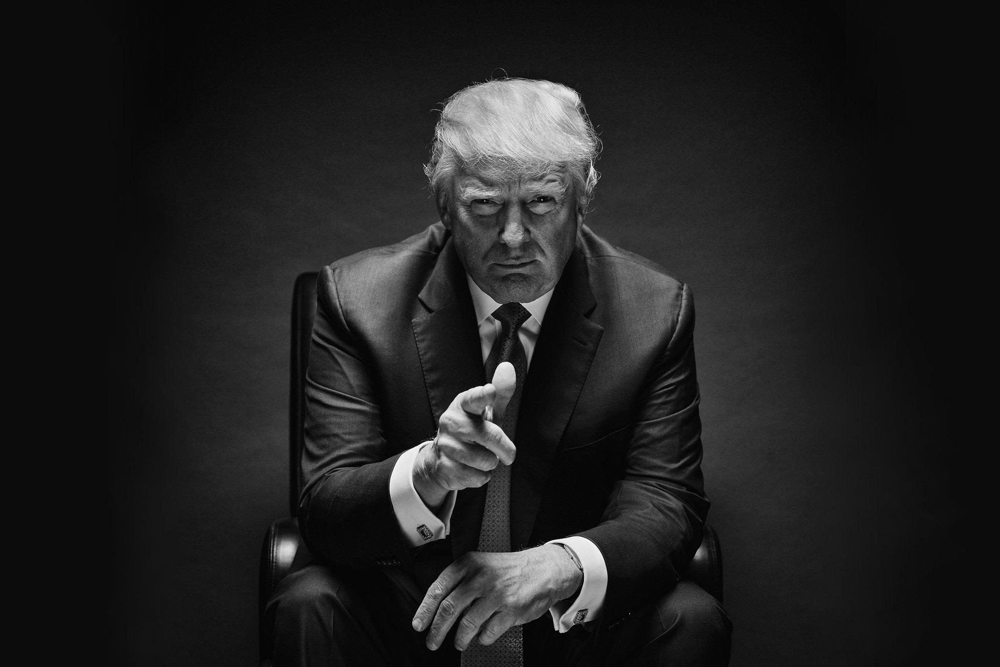 black-and-white-trump